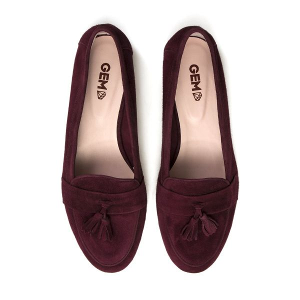 Балетки для женщин Слиперы 7728-110 марсала замша 7728-110 брендовая обувь, 2017