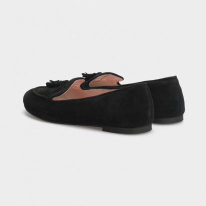 Балетки женские Слиперы 7740-110 черная замша 7740-110chr размерная сетка обуви, 2017