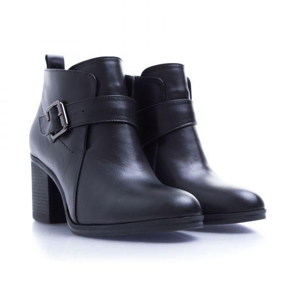 Ботинки женские Ботинки 7746-020 черная кожа. Байка 7746-020 брендовая обувь, 2017
