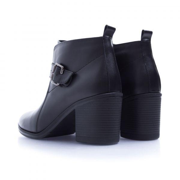 Ботинки женские Ботинки 7746-020 черная кожа. Байка 7746-020 примерка, 2017