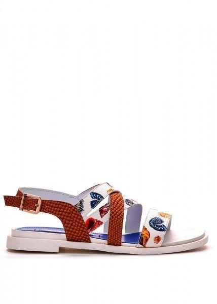 Сандалии женские 786011 Кожаные сандалии с принтом Modus Vivendi 786011 выбрать, 2017