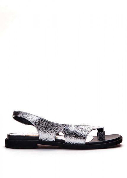 Сандалии женские 786202 Серебряные кожаные сандалии Modus Vivendi 786202 смотреть, 2017