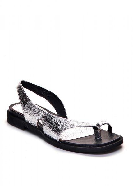 Сандалии женские 786202 Серебряные кожаные сандалии Modus Vivendi 786202 фото, купить, 2017