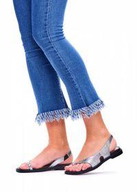 Сандалии женские 786202 Серебряные кожаные сандалии Modus Vivendi 786202 продажа, 2017