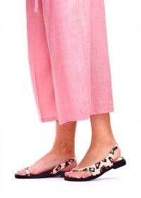 Сандалии женские 786212 Кожаные сандалии с принтом Modus Vivendi 786212 фото, купить, 2017