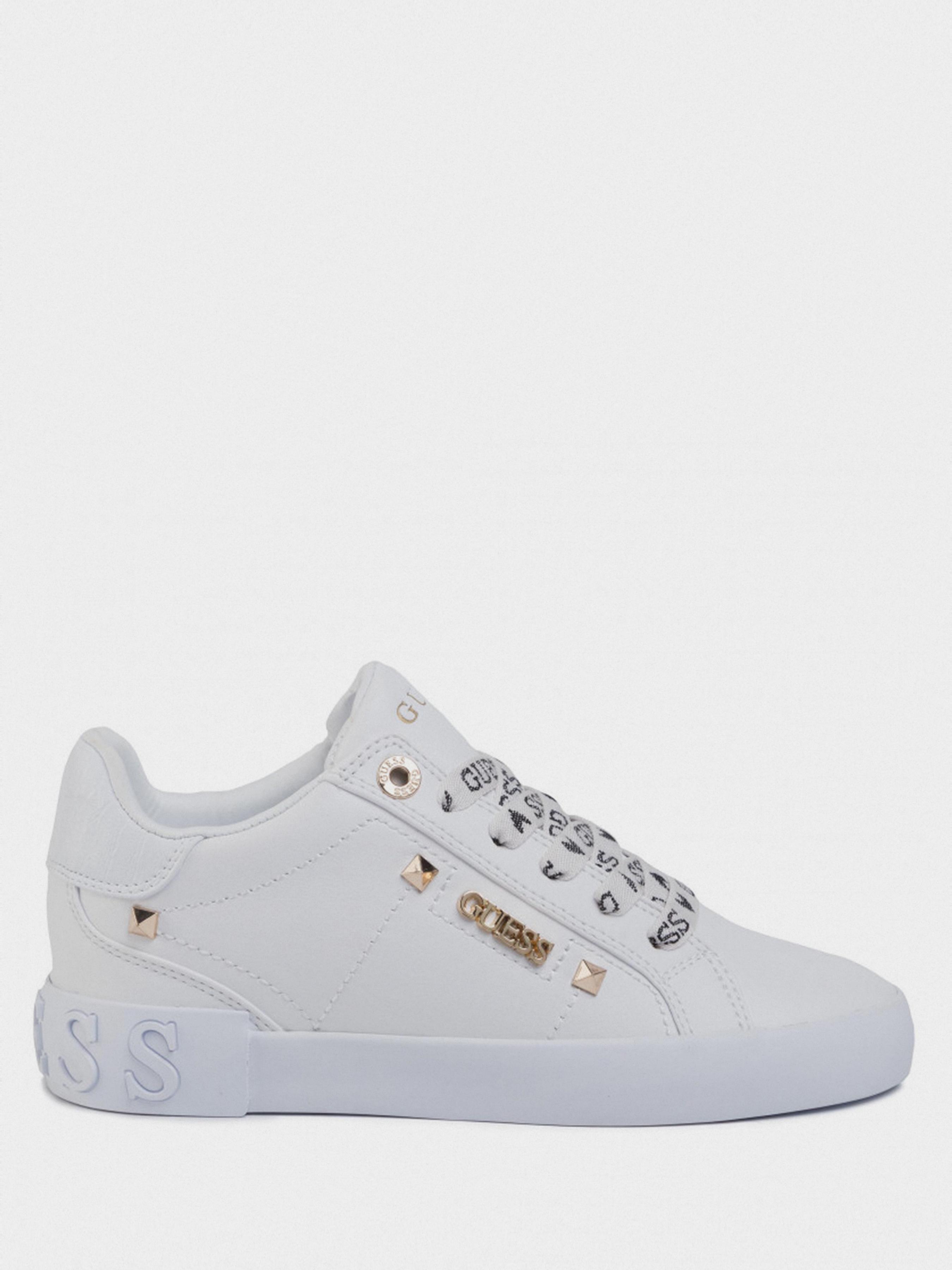 Купить Кеды женские GUESS FL5PUX-LEA12-WHITE, Белый