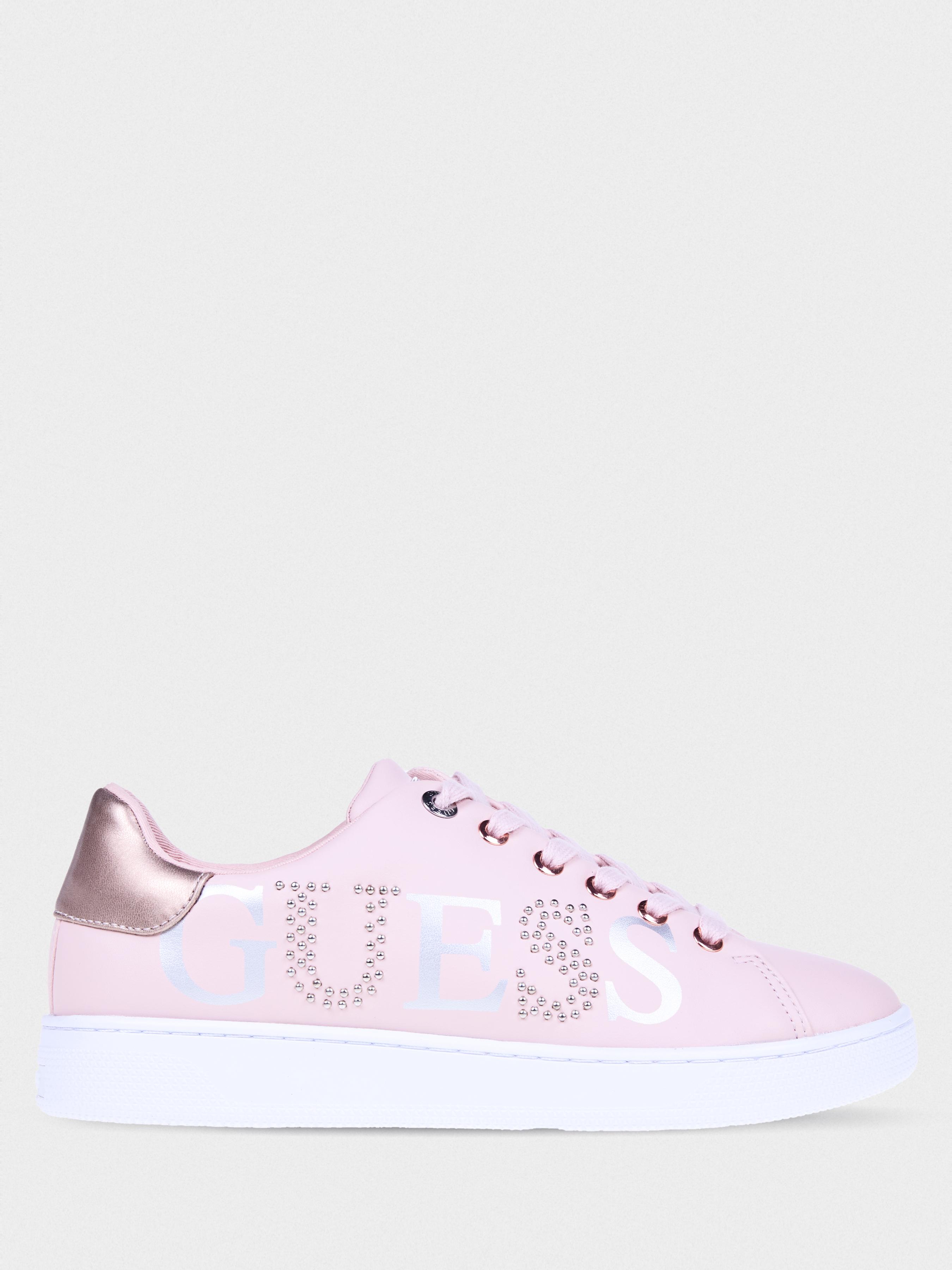 Купить Кеды женские GUESS FL5RID-ELE12-BLUSH, Розовый