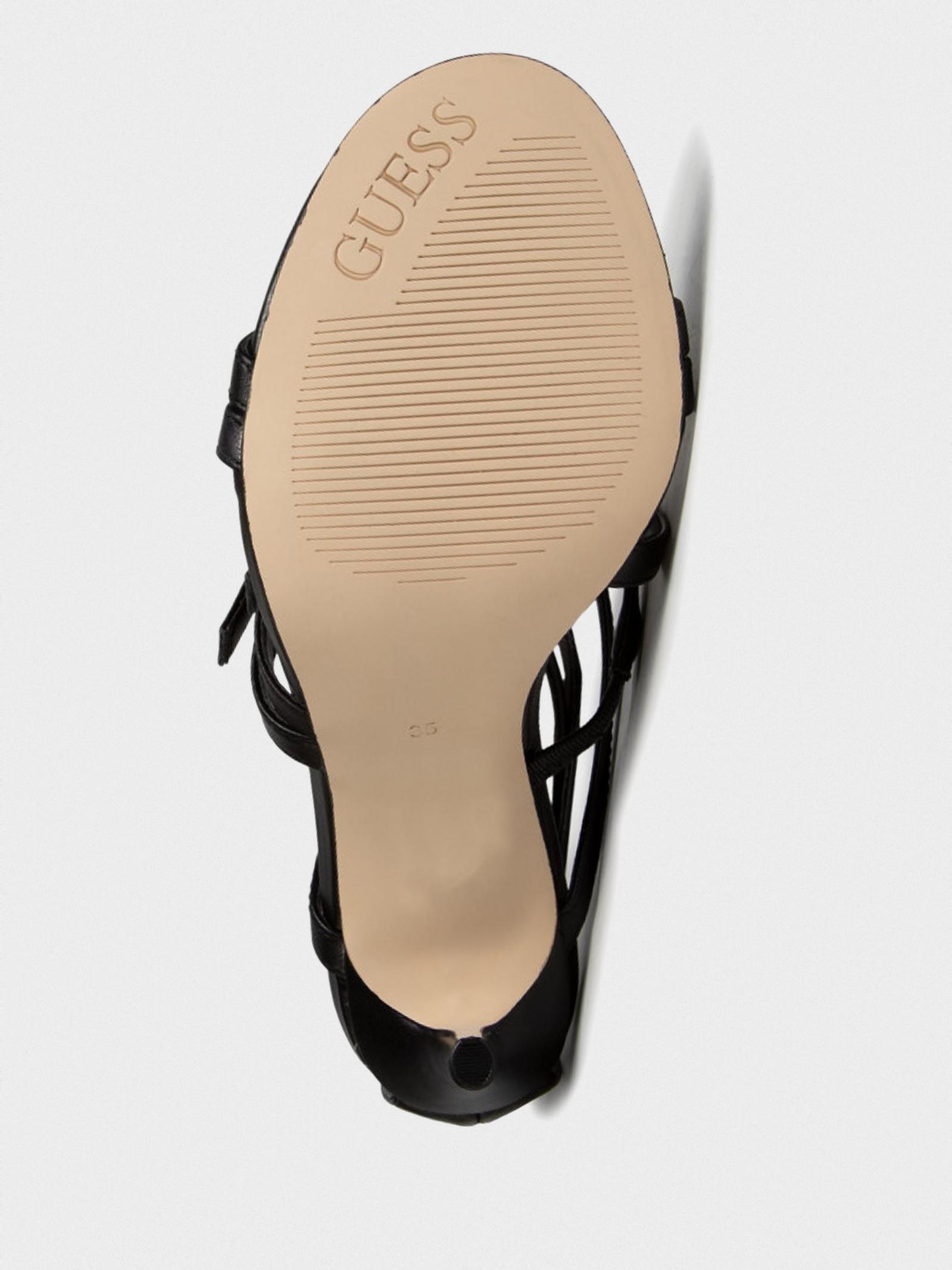 Босоніжки  жіночі GUESS KAIRA/SANDALO (SANDAL)/LEATHER FL6KIA-LEA03-BLKWH продаж, 2017