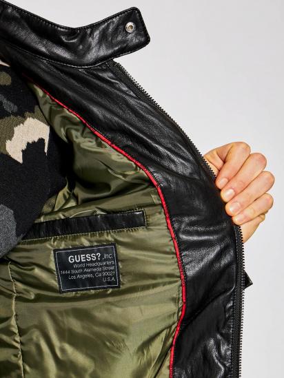 Шкіряна куртка GUESS модель M1RL48-WDMP0-JBLK — фото 4 - INTERTOP
