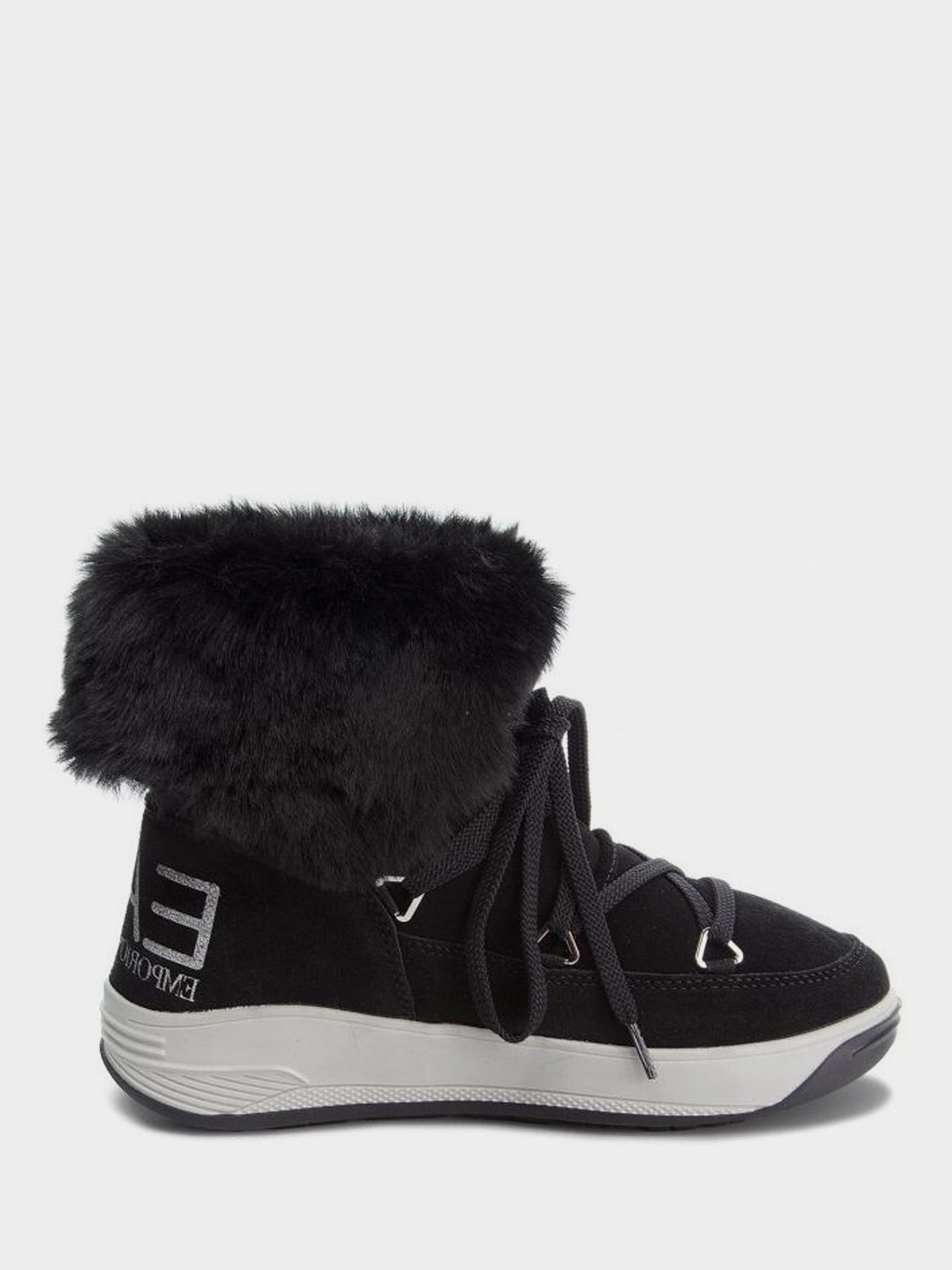 Купить Ботинки для женщин EA7 WOMAN LEATHER BOOT 7Q1, Черный