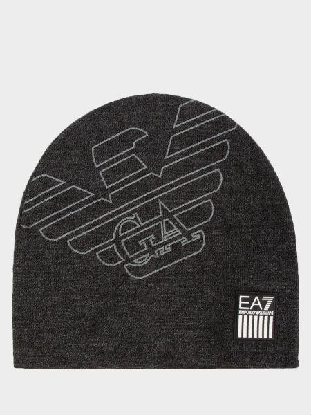 Купить Шапка мужские модель 7T23, EA7, Серый