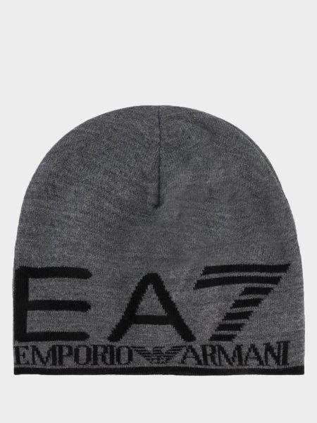 Купить Шапка мужские модель 7T26, EA7, Серый