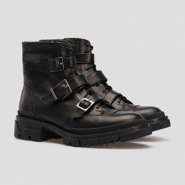 Ботинки для женщин Ботинки 80100120-8 чорна шкіра 80100120-8 брендовая обувь, 2017