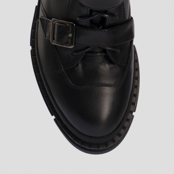 Ботинки для женщин Ботинки 80100120-8 чорна шкіра 80100120-8 примерка, 2017