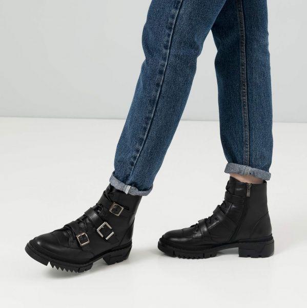 Ботинки для женщин Ботинки 80100120-8 чорна шкіра 80100120-8 выбрать, 2017