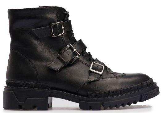 Ботинки для женщин Ботинки 80100120-8 чорна шкіра 80100120-8 цена, 2017