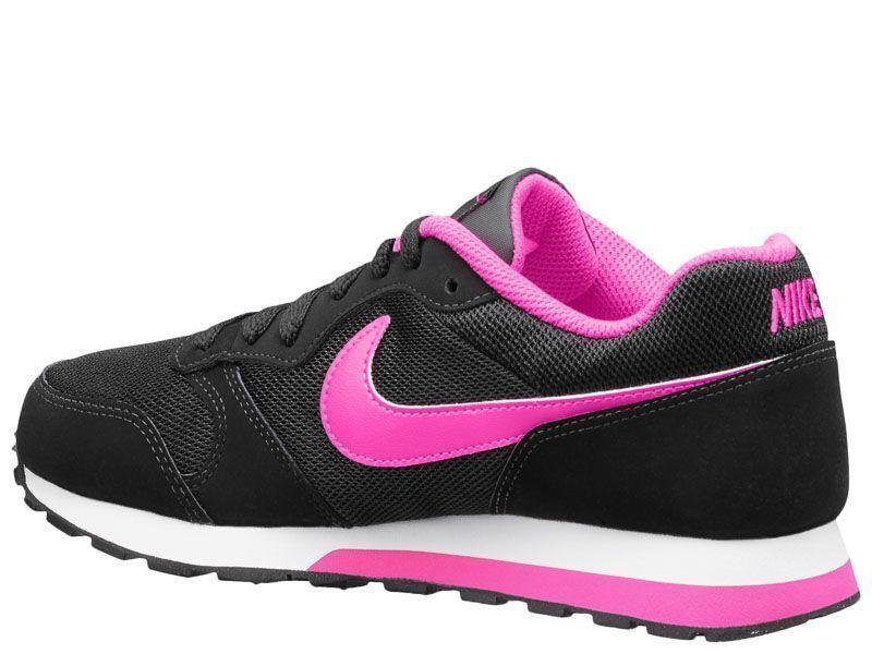 Кроссовки для детей NIKE MD RUNNER 2 (GS) Black/Pink 807319-006 обувь бренда, 2017
