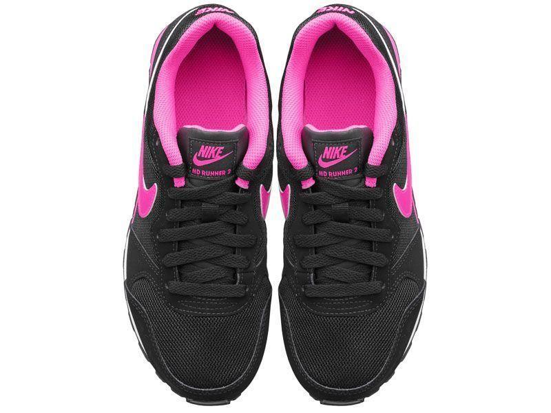 Кроссовки для детей NIKE MD RUNNER 2 (GS) Black/Pink 807319-006 брендовая обувь, 2017