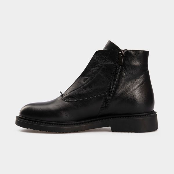 Ботинки женские Ботинки 809761620 черная кожа. Байка 809761620 примерка, 2017