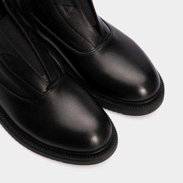 Ботинки женские Ботинки 809761620 черная кожа. Байка 809761620 бесплатная доставка, 2017
