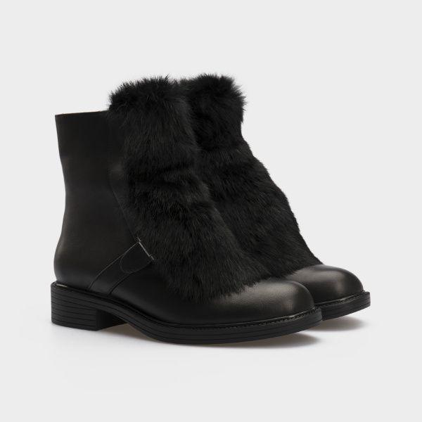 Ботинки женские Ботинки 815762331 черная кожа. Шерсть 815762331 цена, 2017