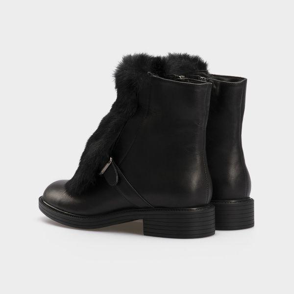 Ботинки женские Ботинки 815762331 черная кожа. Шерсть 815762331 бесплатная доставка, 2017