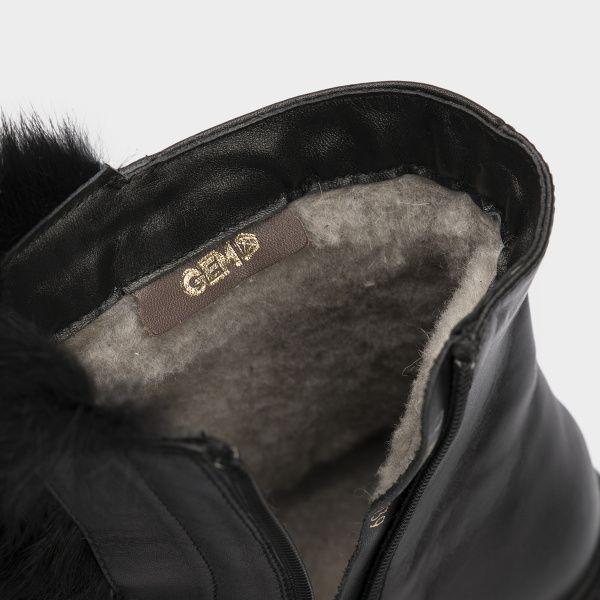Ботинки женские Ботинки 815762331 черная кожа. Шерсть 815762331 , 2017