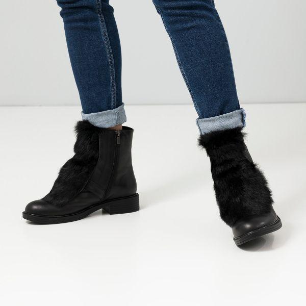Ботинки женские Ботинки 815762331 черная кожа. Шерсть 815762331 купить в Украине, 2017