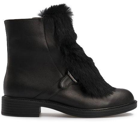 Ботинки женские Ботинки 815762331 черная кожа. Шерсть 815762331 примерка, 2017