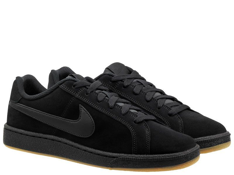 Кеды для мужчин Nike Court Royale Suede Black/Black 819802-008 примерка, 2017