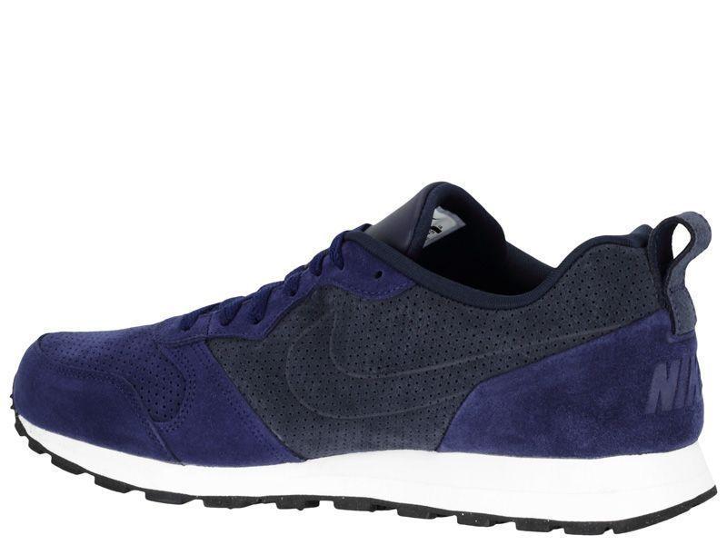Кроссовки мужские Nike MD RUNNER 2 LEATHER PREM Blue 819834-400 обувь бренда, 2017