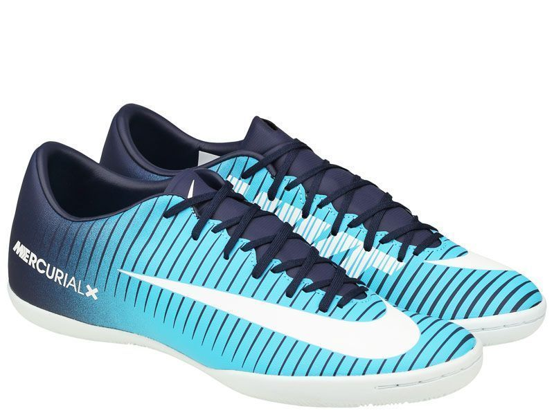 Кроссовки для мужчин NIKE MERCURIALX VICTORY VI IC M Blue 831966-404, Синий  - купить со скидкой