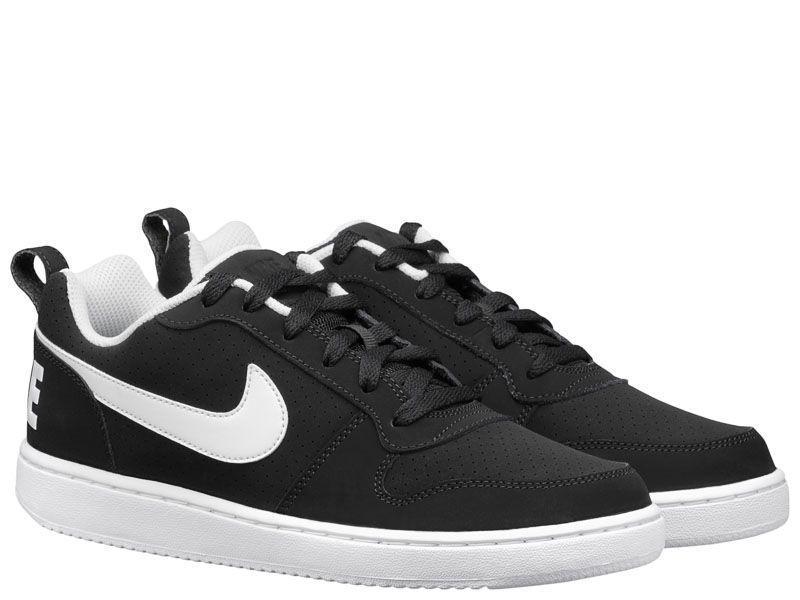 Кроссовки мужские NIKE COURT BOROUGH LOW Black/White 838937-010 брендовая обувь, 2017