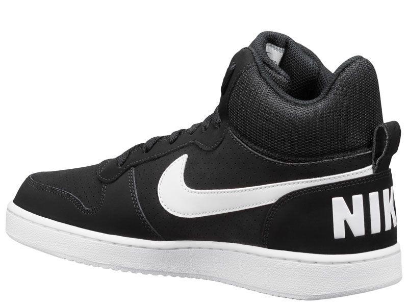 Кроссовки мужские NIKE COURT BOROUGH MID Black/White 838938-010 обувь бренда, 2017