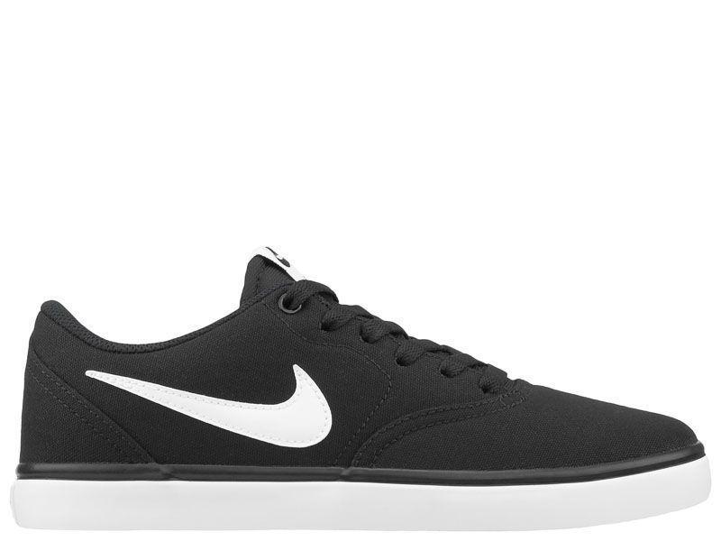 Кеды для мужчин Nike SB Check Solarsoft Canvas Black 843896-001 примерка, 2017