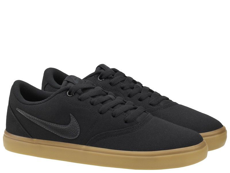 Кеды для мужчин Nike SB Check Solarsoft Canvas Black/Brown 843896-009 , 2017