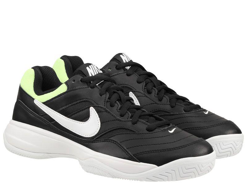Купить Кроссовки теннисные мужские Nike Court Lite White/Black/Green 845021-004, Черный