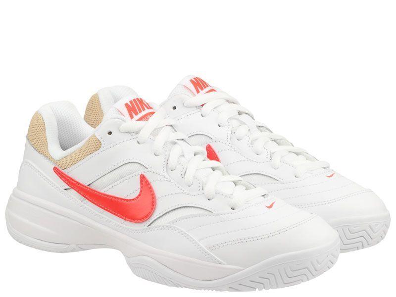 Купить Кроссовки теннисные мужские Nike Court Lite Tennis White/Orange 845021-107, Белый