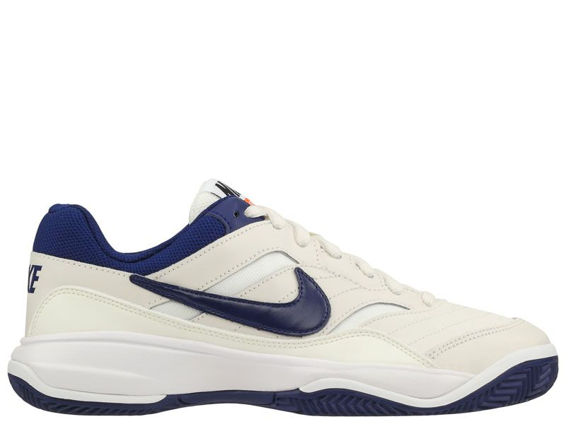 Кроссовки теннисные мужские Nike Court Lite Clay Tennis White/Blue/Orange 845026-003 цена, 2017