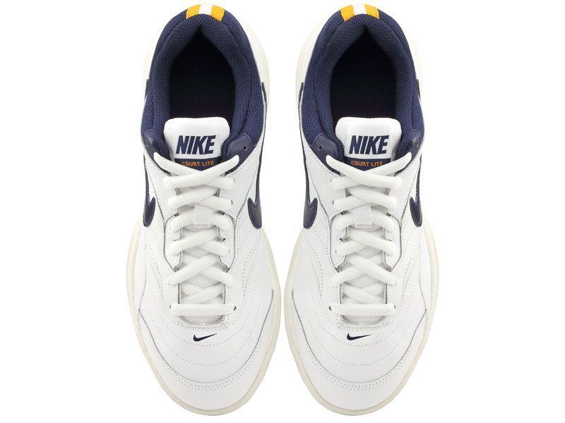 Кроссовки теннисные мужские Nike Court Lite Clay Tennis White/Blue 845026-180 купить, 2017