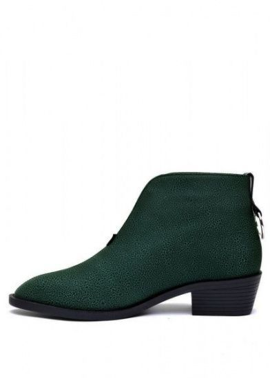 для женщин 876111 Зеленые кожаные ботильоны Modus Vivendi 876111 обувь бренда, 2017