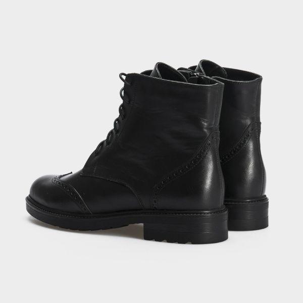 Ботинки женские Ботинки 87900231 черная кожа. Шерсть 87900231 выбрать, 2017