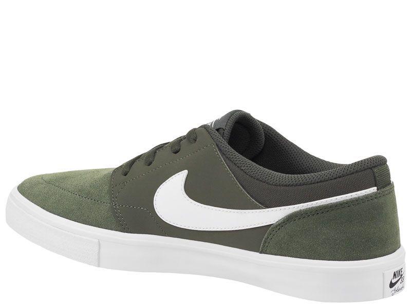 Кеды для мужчин NIKE SB PORTMORE II SS Green AS 880266-310 размерная сетка обуви, 2017