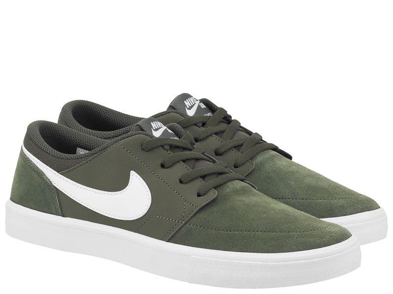 Кеды для мужчин NIKE SB PORTMORE II SS Green AS 880266-310 брендовая обувь, 2017