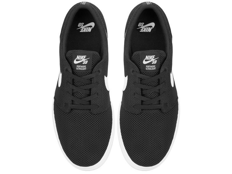 Кеды для мужчин Nike SB Portmore II Ultralight Black/White 880271-010 Заказать, 2017