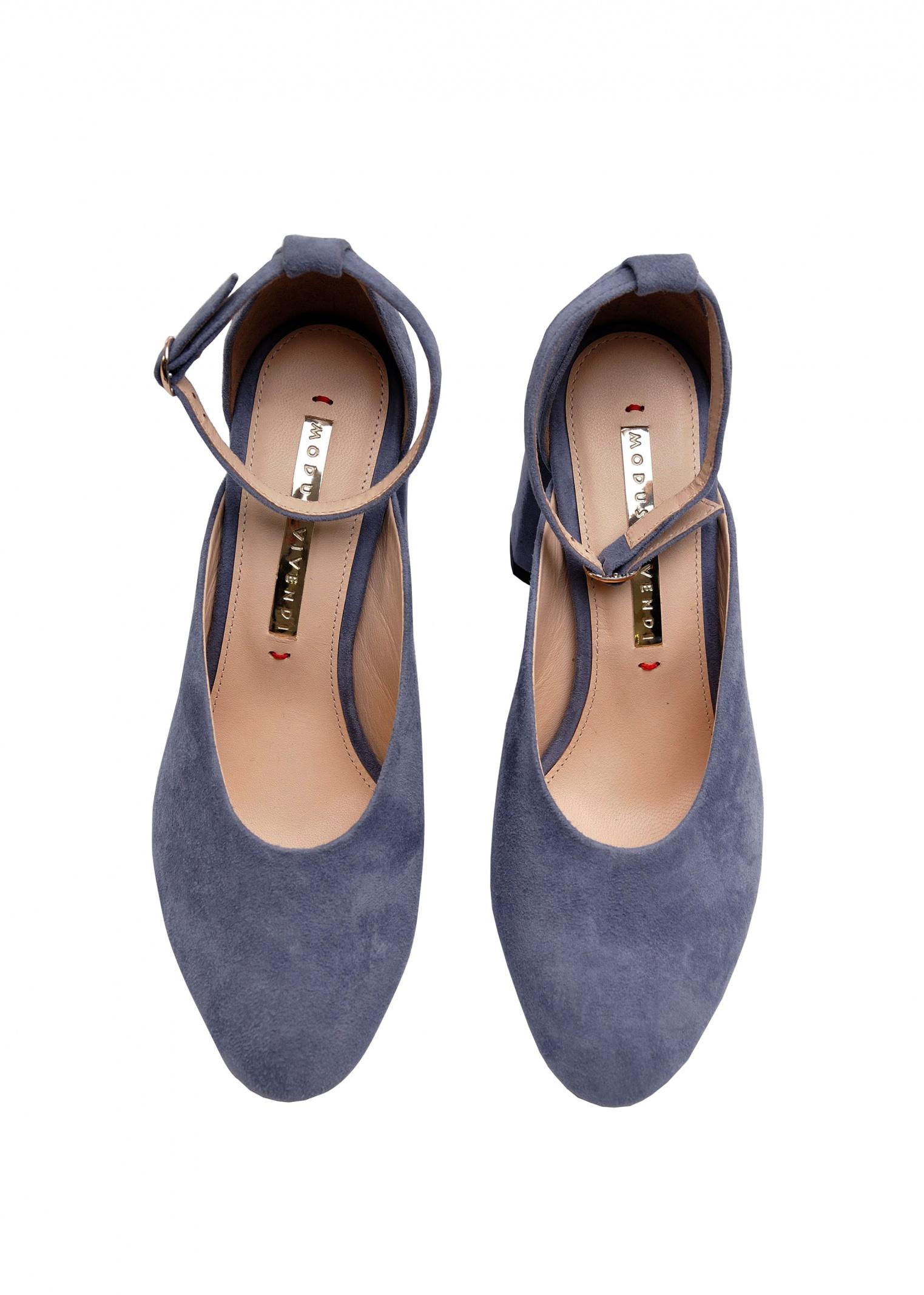 Туфлі  для жінок 894004 Замшевые голубые туфли Modus Vivendi 894004 замовити, 2017