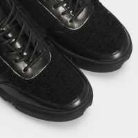 Ботинки женские Ботинки 896827073 черная кожа/текстиль. Шерсть 896827073 модные, 2017