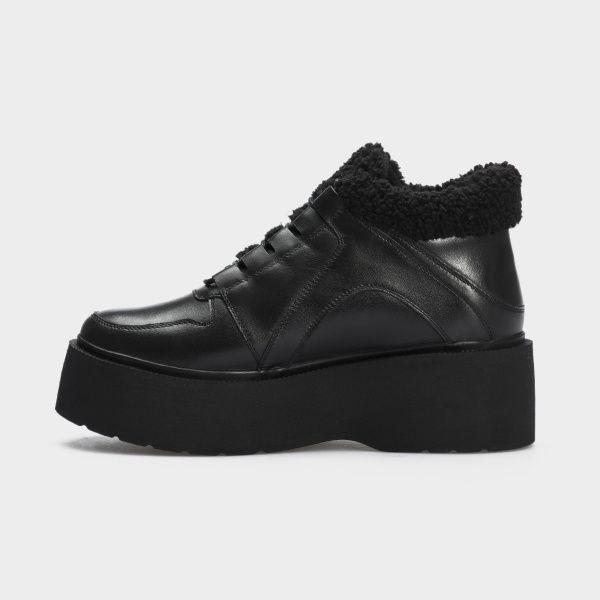 Ботинки женские Ботинки 897827120 черная кожа. Байка 897827120 выбрать, 2017