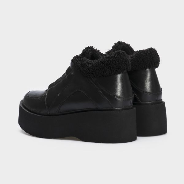 Ботинки женские Ботинки 897827120 черная кожа. Байка 897827120 цена, 2017