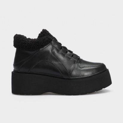 Ботинки женские Ботинки 897827120 черная кожа. Байка 897827120 купить в Интертоп, 2017